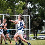 Ryan Pickering in the Ruck for Broadbeach Cats